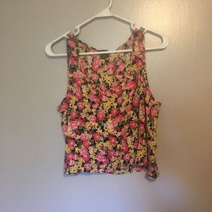 Forever 21 Floral Cropped Tank Top
